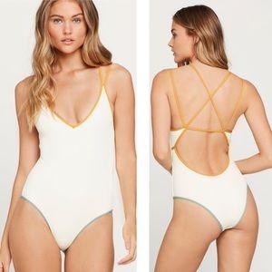 L*Space Ribbed Dakota One Piece Swimsuit Sz 6/S